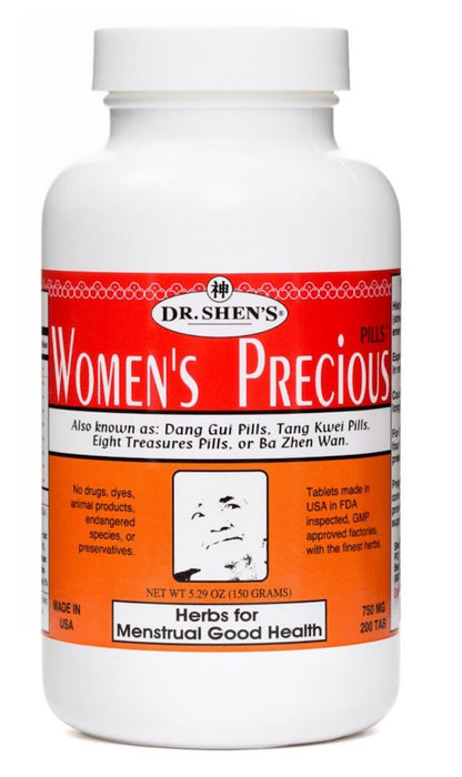 bottle of Dr. Shen's Women's Previous Pills for Menstrual Good Health