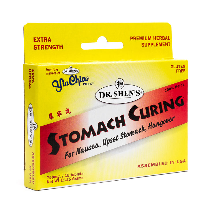 photo of a box of Dr. Shen's Stomach Curing pills, 15 tablets size