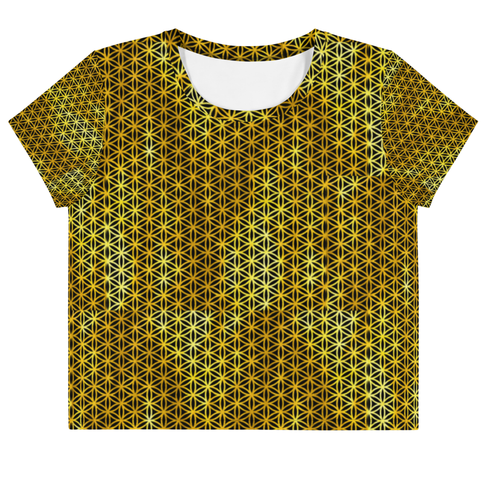 Golden Flower of Life Crop Tee