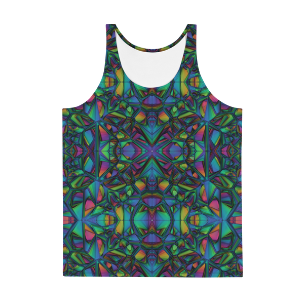 Teal Geometry Unisex Tank Top
