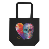 Toxic Love Floral Skull Eco-friendly Tote