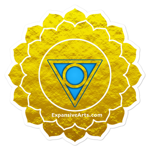 Gold Throat Chakra Symbol Sticker