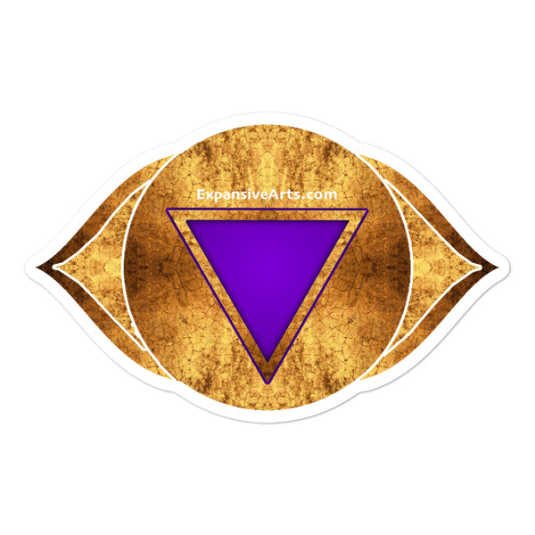 Gold Third Eye Chakra Symbol Sticker
