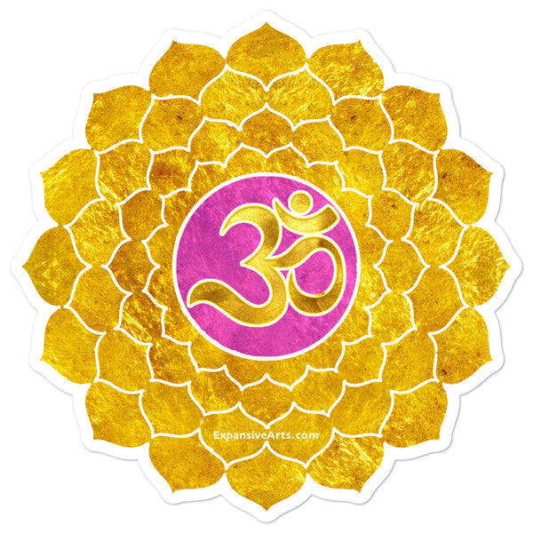 Gold Crown Chakra Symbol Sticker