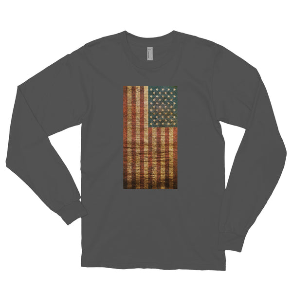 The Constitution Liberty American Patriot Long Sleeve Sleeve Cotton Shirt
