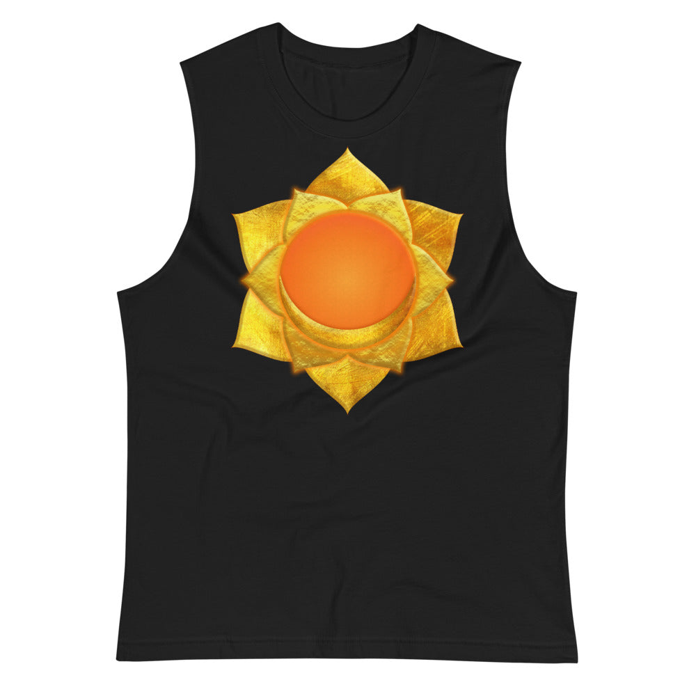 Gold Svadhishthana (Sacral Chakra) Simple Graphic Muscle Shirt