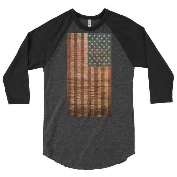 United States Constitution Liberty Raglan ¾ Sleeve Shirt