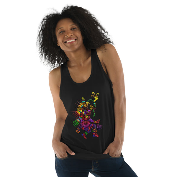 Mayan Gods Quetzalcoatl Feathered Serpent American Apparel Tank Top
