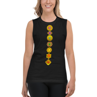 Seven Golden Chakra Balancing Unisex Sleeveless Shirt