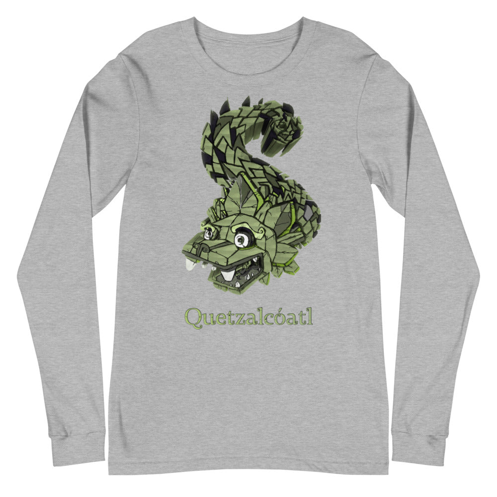 Quetzalcoatl Mesoamerican God The Plumed Serpent Bella + Canvas Long Sleeve Shirt