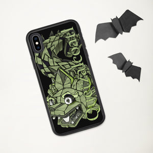 Mesoamerican God Quetzalcóatl Biodegradable iPhone case