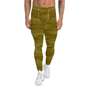 Golden Flower of Life Sacred Geometry Male Leggings