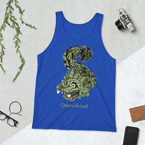 Mayan Gods Quetzalcoatl Plumed Serpent Bella + Canvas Tank Top