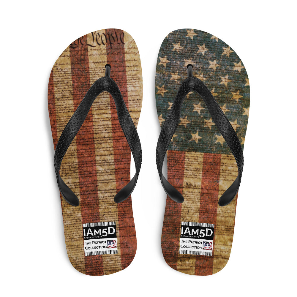 The Constitution Liberty American Patriot Flip-Flops