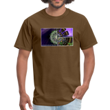Mesmerizing Fractal Mandala Thrice Divided Graphic T-Shirt - brown