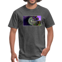 Mesmerizing Fractal Mandala Thrice Divided Graphic T-Shirt - heather black