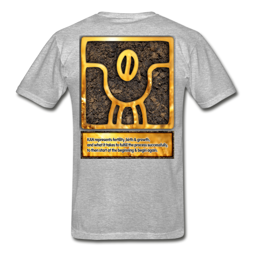 KAN (Seed) - Mayan Astrology T-Shirt - heather gray