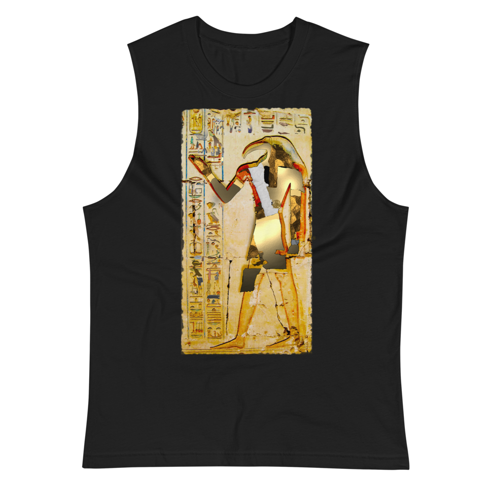 Ancient Egyptian God Thoth Golden Hieroglyphic Premium Muscle Shirt