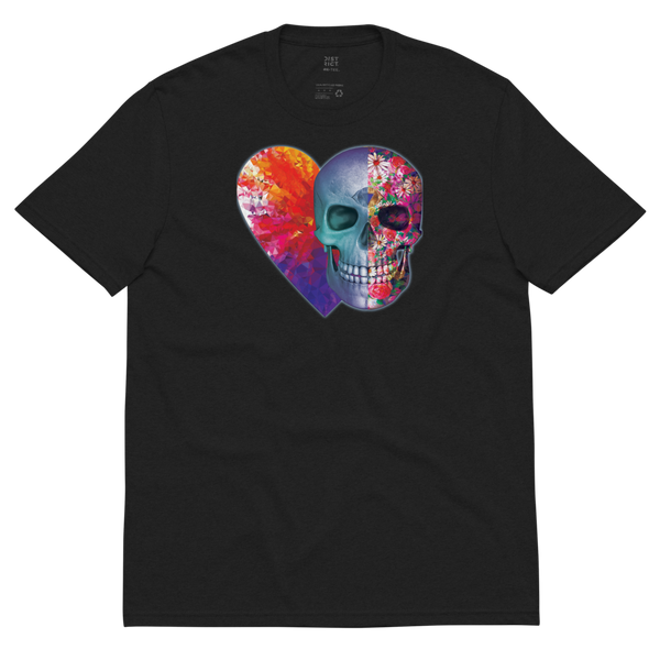 Toxic Love Floral Skull Recycled T-Shirt