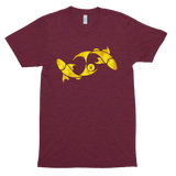 Golden Pisces Astrological Zodiac Premium Tri-Blend T-Shirt