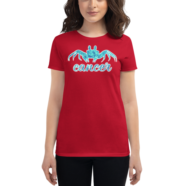 Cancer Crab Elemental Water Sign Zodiac Fashion Fit T-Shirt