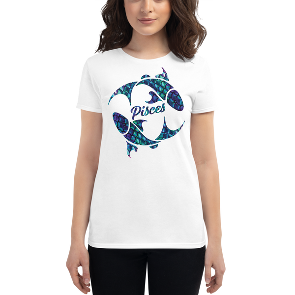 Pisces Fish Elemental Water Sign Zodiac Fashion Fit T-Shirt