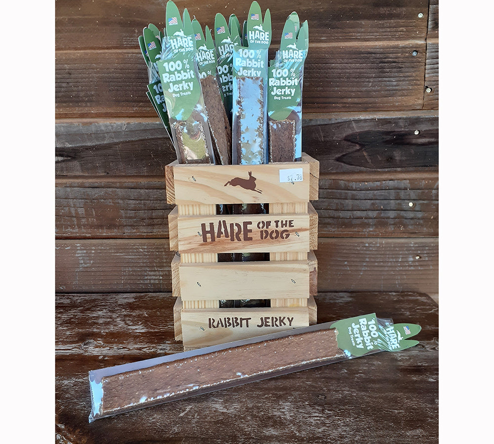 Hare of the Dog 100% Rabbit Jerky Stick