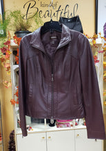 Load image into Gallery viewer, Danier Size XS Brown Leather Jacket