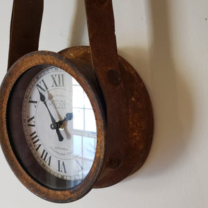 Rustic Pulley Wall Clock - New in box!