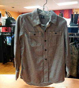 Gap Size 6/7 GRAY/WHITE Stripe Shirt