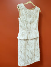 Load image into Gallery viewer, Frank Lyman Size 10 White/Taupe Sleeveless Formal Dress