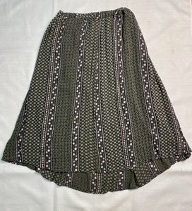 Twik Size S GREEN/WHITE Flower Skirt