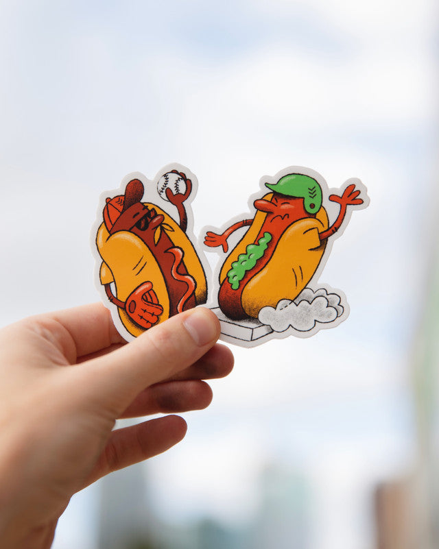 Ketchup and Relish Baseball Stickers at Sandlot Goods!
