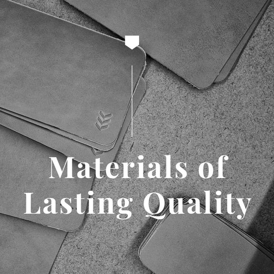 Materials of Lasting Quality in an unfinished state