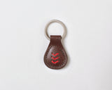 Triple Stitch Key Fob - Dark Brown
