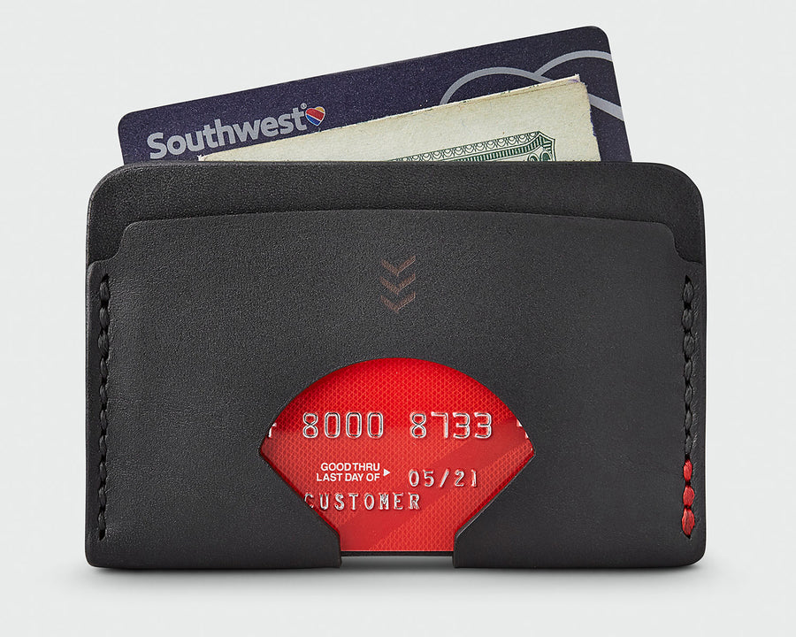 Sandlot Goods Monarch leather wallet in black