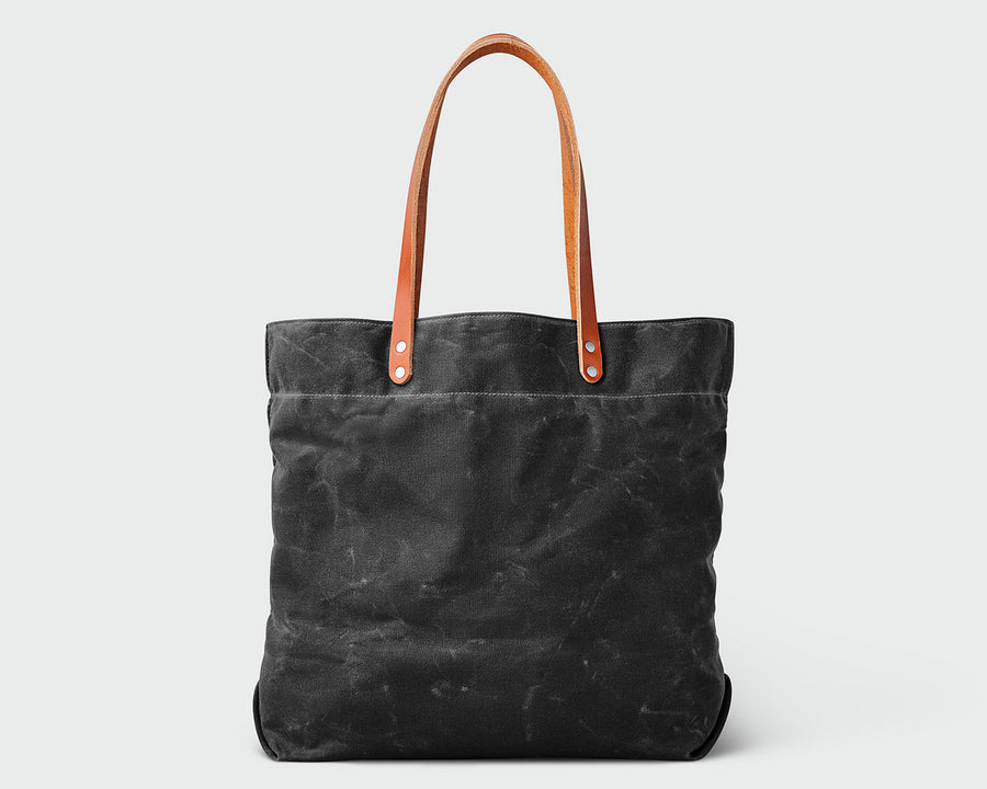 Russell Tote - Black/Tan