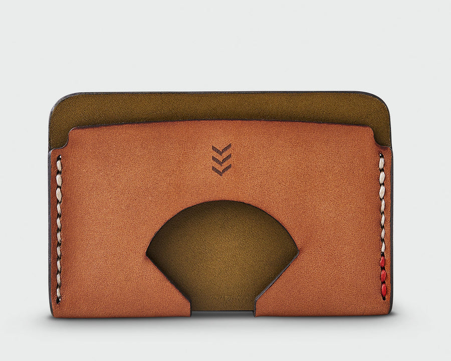 Monarch Wallet - Olive and Tan