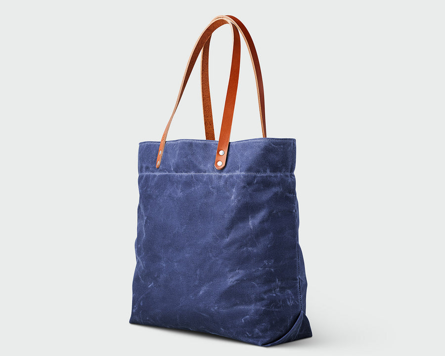 Russell Tote - Navy/Tan
