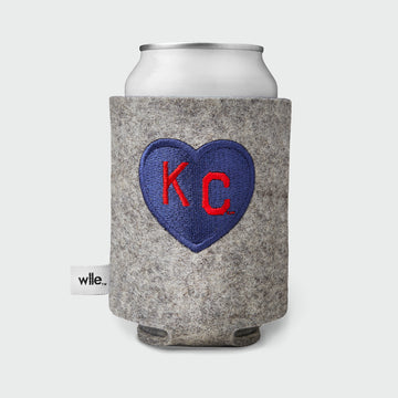 CHARLIE HUSTLE + WLLE™ DRINK SWEATER - HEART KC - Granite, Navy and Red