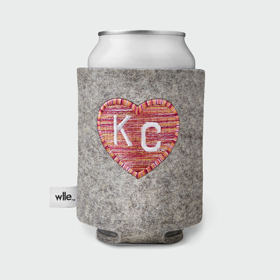 CHARLIE HUSTLE + WLLE™ DRINK SWEATER - HEART KC - Granite and Pink