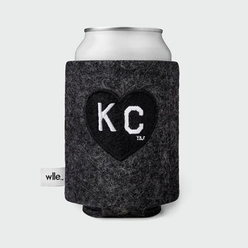 Charlie Hustle + wlle™ Drink Sweater - Heart KC - Graphite and Black