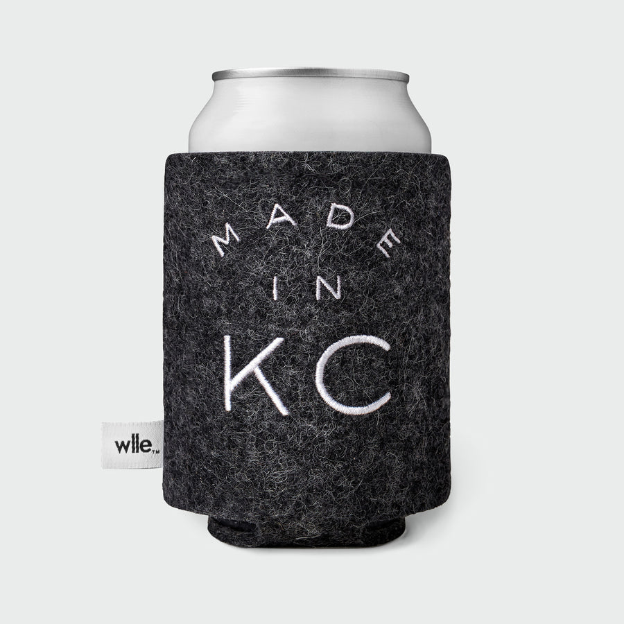 wlle™ Drink Sweater - Made in KC - Graphite and White