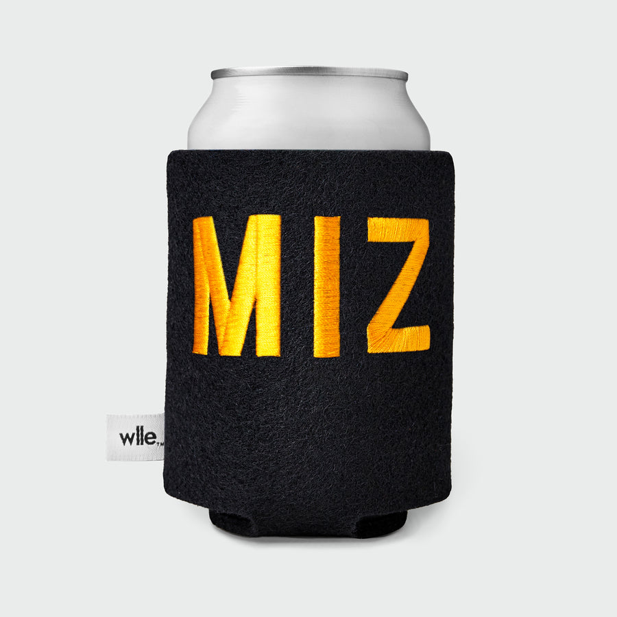 wlle™ Drink Sweater - Standard Can - MIZ - Black and Gold