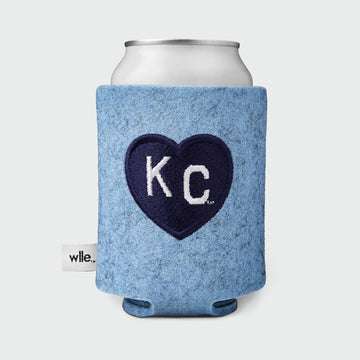 Charlie Hustle + wlle™ Drink Sweater - Heart KC - Light Blue and Navy