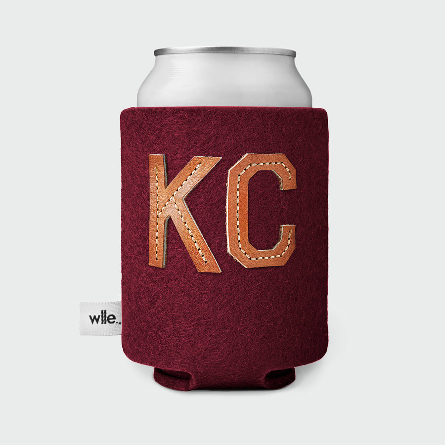 wlle™ Drink Sweater - Leather KC - Burgundy