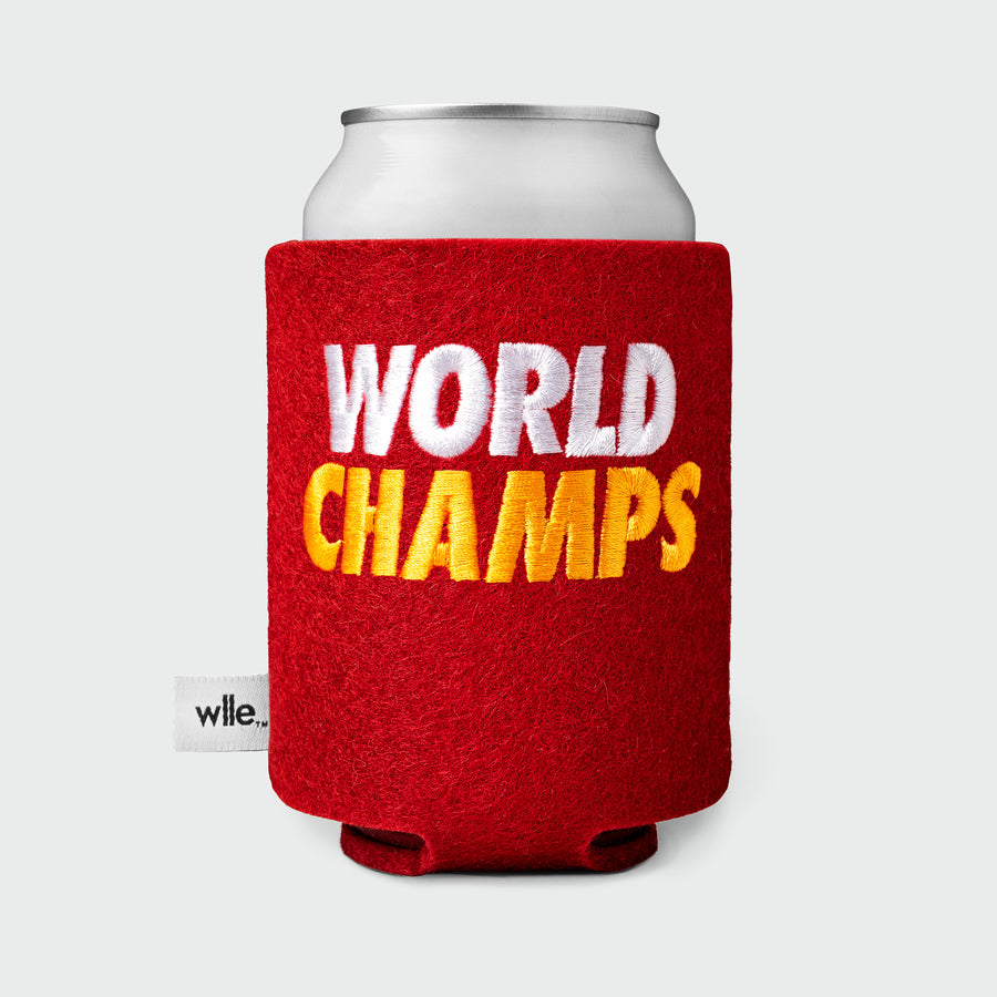 WLLE™ DRINK SWEATER - STANDARD CAN - World Champs - Cherry Red, White and Gold