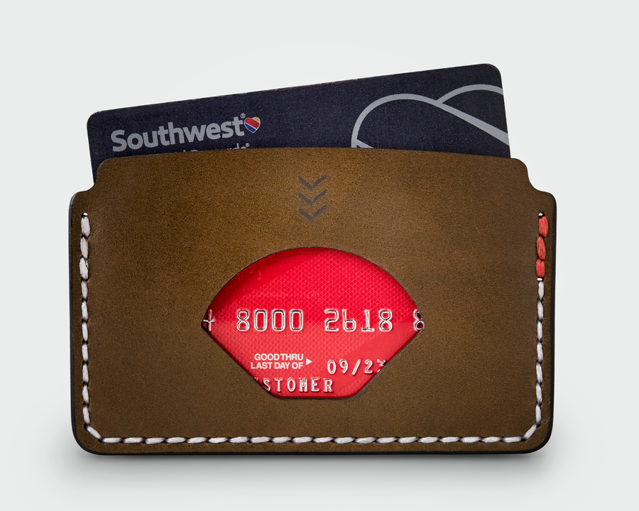 The Slim Card Holder - Olive