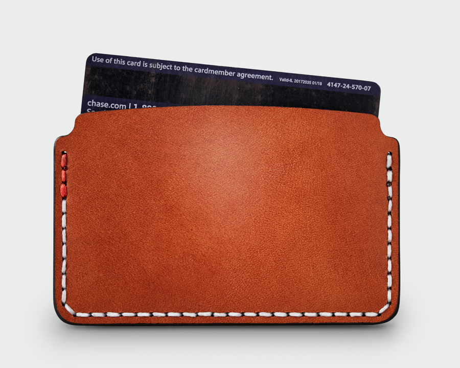 The Slim Card Holder - Tan