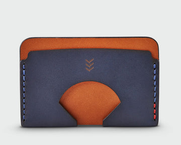 Monarch Wallet - Tan and Navy